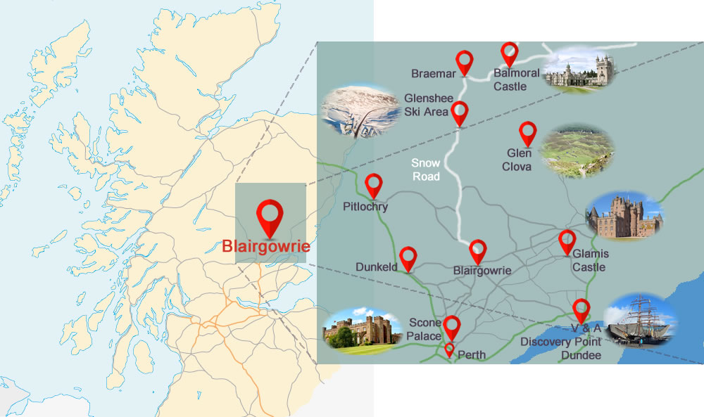Blairgowrie location and surrounds