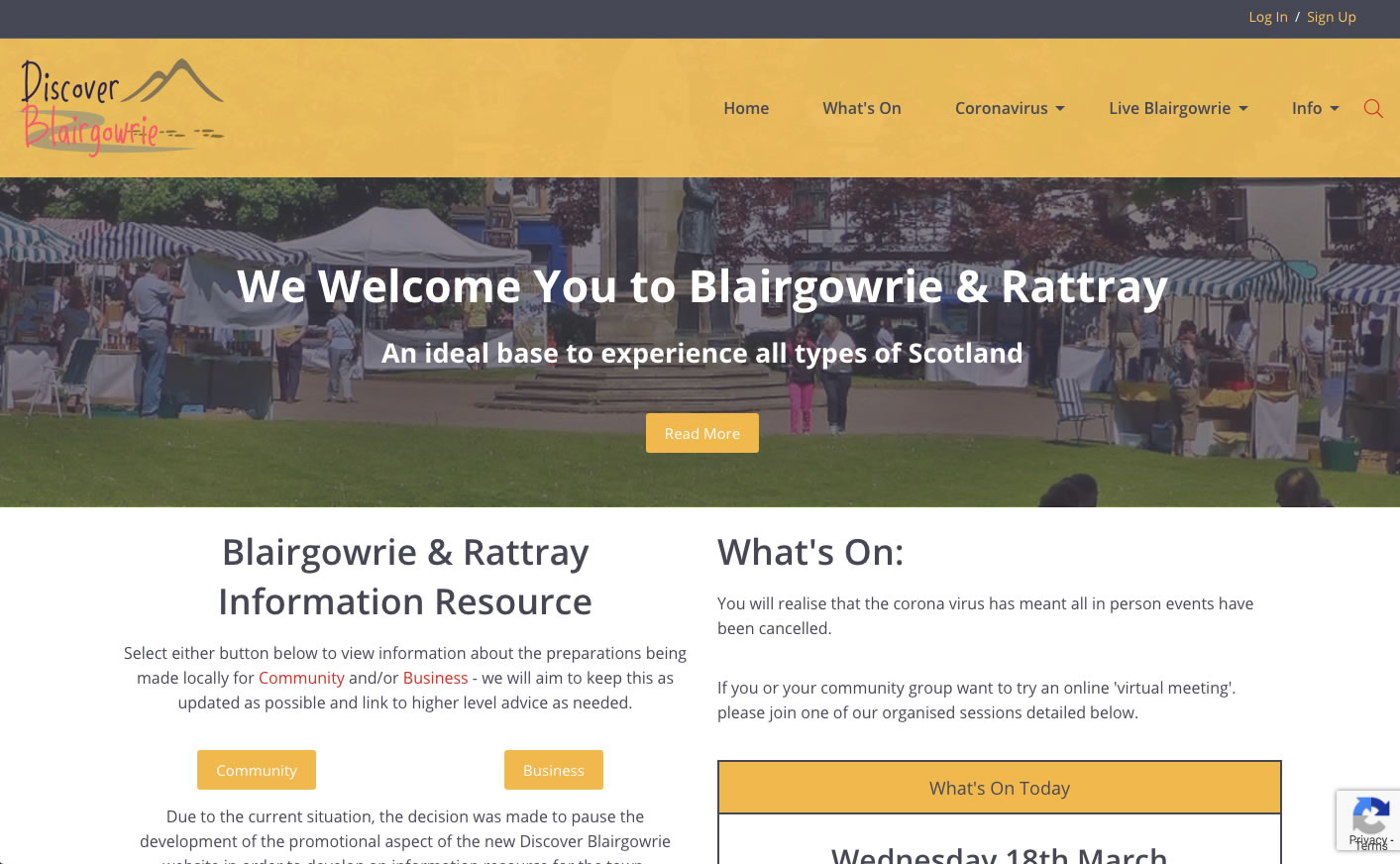 Discover Blairgowrie website